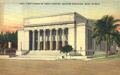 First Church of Christ Scientist - Miami, Florida FL Postcard