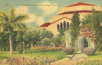 William Jennings Bryan Church - Miami, Florida FL Postcard
