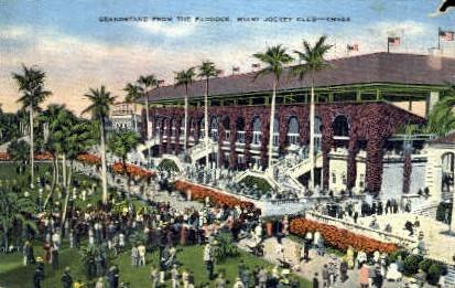 Miami Jockey Club - Florida FL Postcard