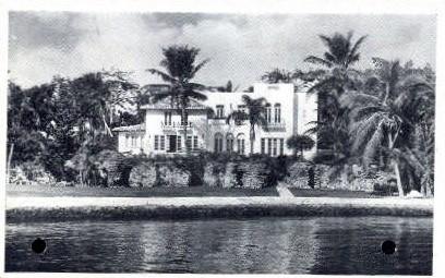 James Gilman Residence - Miami, Florida FL Postcard
