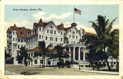 Hotel Halcyon - Miami, Florida FL Postcard