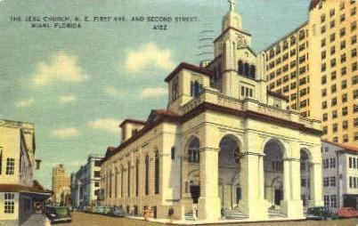 Jesu Church - Miami, Florida FL Postcard
