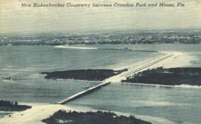 Rickenbacker Causeway - Miami, Florida FL Postcard