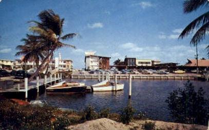 Motel Row - Miami, Florida FL Postcard