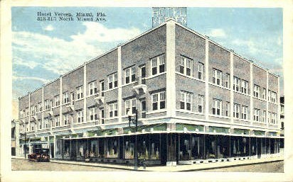 Verneen Hotel - Miami, Florida FL Postcard