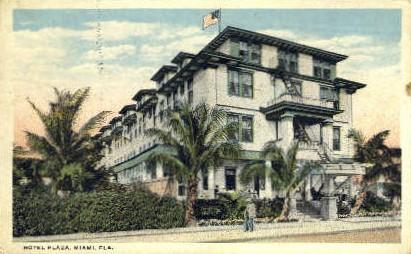 Plaza Hotel - Miami, Florida FL Postcard