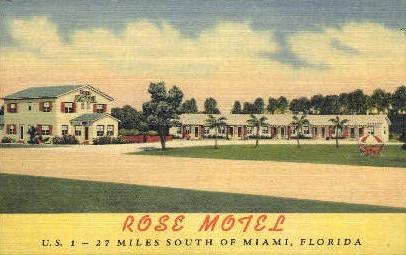 Rose Motel - Miami, Florida FL Postcard