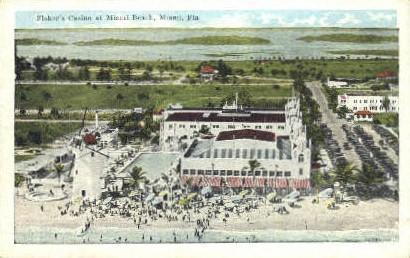 Fisher's Casino - Miami, Florida FL Postcard