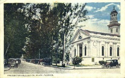 Presbyterian Church - Miami, Florida FL Postcard