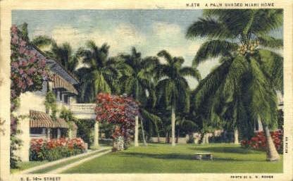 Fourteenth Street - Miami, Florida FL Postcard