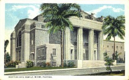 Scottish Rite Temple - Miami, Florida FL Postcard