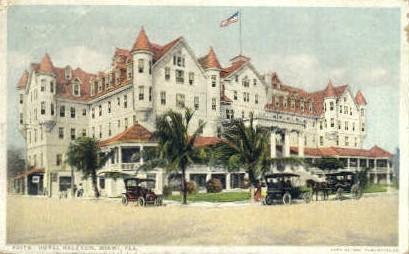 Halcyon Hotel - Miami, Florida FL Postcard