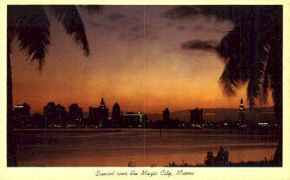 Magic City - Miami, Florida FL Postcard