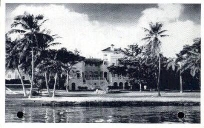Jacob I. Cabassa Residence - Miami, Florida FL Postcard