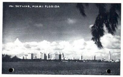 Skyline - Miami, Florida FL Postcard