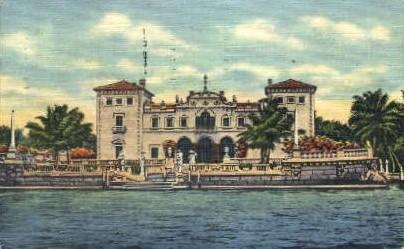 James Deering Home - Miami, Florida FL Postcard
