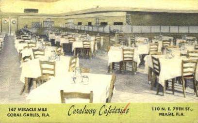 Coralway Cafeterias - Miami, Florida FL Postcard