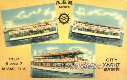 A.G.H. Lines - Kendall, Florida FL Postcard