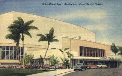Miami Beach Auditorium - Florida FL Postcard