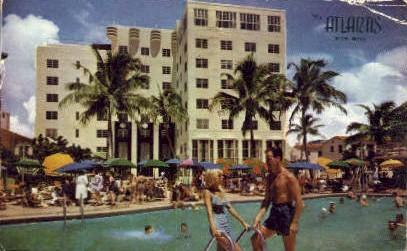 Atlantis Hotel - Miami Beach, Florida FL Postcard