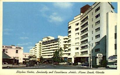 Hotels - Miami Beach, Florida FL Postcard