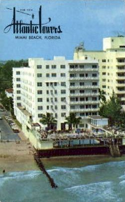 Atlantic Lowers Hotel - Miami Beach, Florida FL Postcard