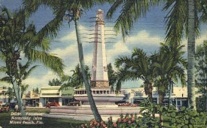 Normandy Isles - Miami Beach, Florida FL Postcard