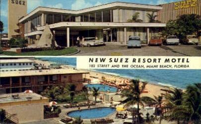 Suez Resort Motel - Miami Beach, Florida FL Postcard