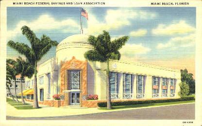 Federal Savings Association - Miami Beach, Florida FL Postcard