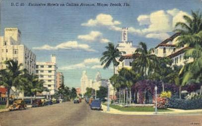 Exclusive Hotels - Miami Beach, Florida FL Postcard