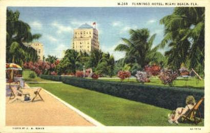 Flamingo Hotel - Miami Beach, Florida FL Postcard