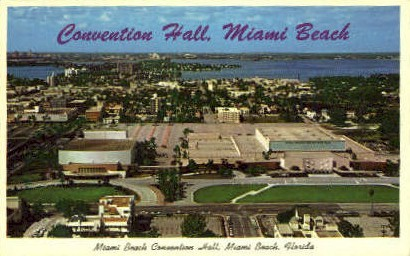Convention Hall - Miami Beach, Florida FL Postcard