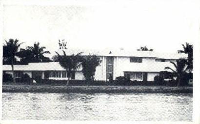 Thomas Luzier Home - Miami Beach, Florida FL Postcard