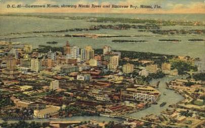 Downtown Miami - Miami Beach, Florida FL Postcard