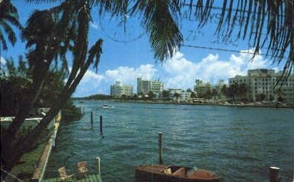 Hotel Row - Miami Beach, Florida FL Postcard