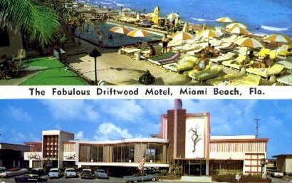 Driftwood Motel - Miami Beach, Florida FL Postcard