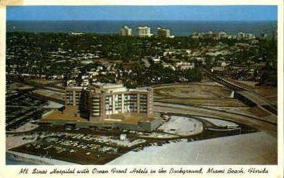 Mount Sinai Hospital - Miami Beach, Florida FL Postcard