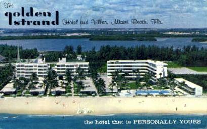 Golden Strand Hotel - Miami Beach, Florida FL Postcard