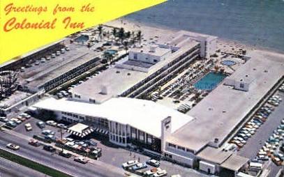 Colonial Inn - Miami Beach, Florida FL Postcard