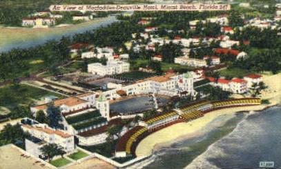 Deauville Hotel - Miami Beach, Florida FL Postcard
