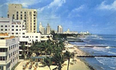 Sky Scraper Hotels - Miami Beach, Florida FL Postcard