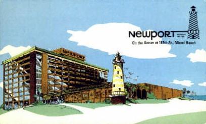 Newport Motel - Miami Beach, Florida FL Postcard
