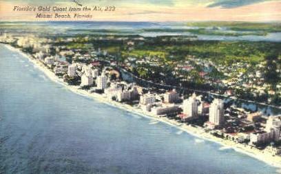 Gold Coast - Miami Beach, Florida FL Postcard
