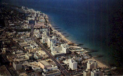 15th Street - Miami Beach, Florida FL Postcard