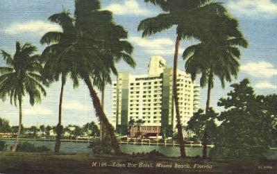 Eden Roc Hotel - Miami Beach, Florida FL Postcard