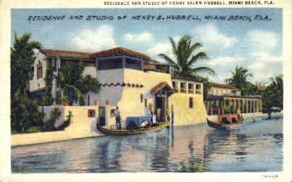 Henry Salem Hubbell Residence - Miami Beach, Florida FL Postcard