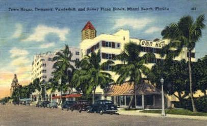 Town House - Miami Beach, Florida FL Postcard