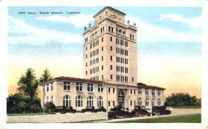 City Hall - Miami Beach, Florida FL Postcard