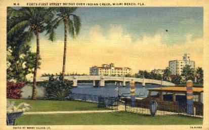 Indian Creek - Miami Beach, Florida FL Postcard