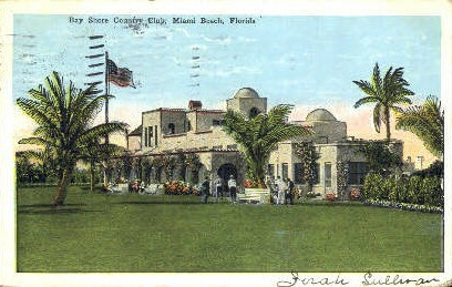 Bay Shore Country Club - Miami Beach, Florida FL Postcard